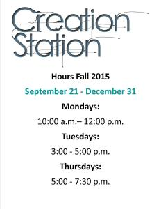 Creation Station Fall Hours Letter Size