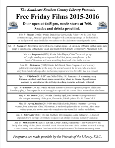 Friday Night Free Films @ SSCL Winter Spring 2016
