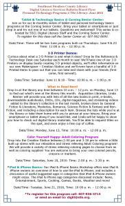 SSCL Digital Literacy Services Programs June 2016