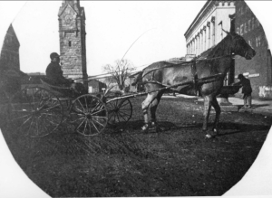 Horse & Buggy @ Clock Tower c. 1900